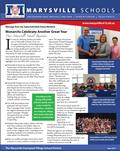 Cover of Marysville Schools Newsletter 2017