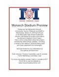 Monarch Stadium Preview invitation