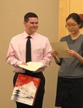 Zach Shafer receiving Consul General prize at JASCO