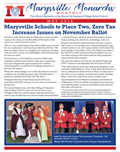 Cover of the May 2018 Marysville Monarchs Monthly