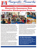 Cover of the April 2019 Marysville Monarchs Monthly