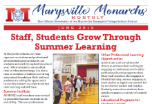 Cover of the June 2019 Marysville Monarchs Monthly