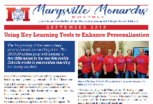 Cover Marysville Monarch Monthly