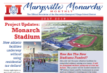 Cover of July 2019 Marysville Monarchs Monthly