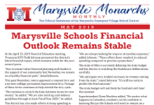 Cover of May 2019 Marysville Monarchs Monthly