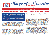 November 2019 Marysville Monarchs Monthly Cover