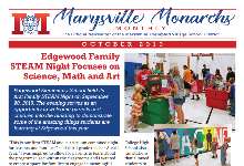 October 2019 Marysville Monarchs Monthly cover