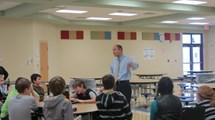 State Senator Dave Burke addressing the BASE students