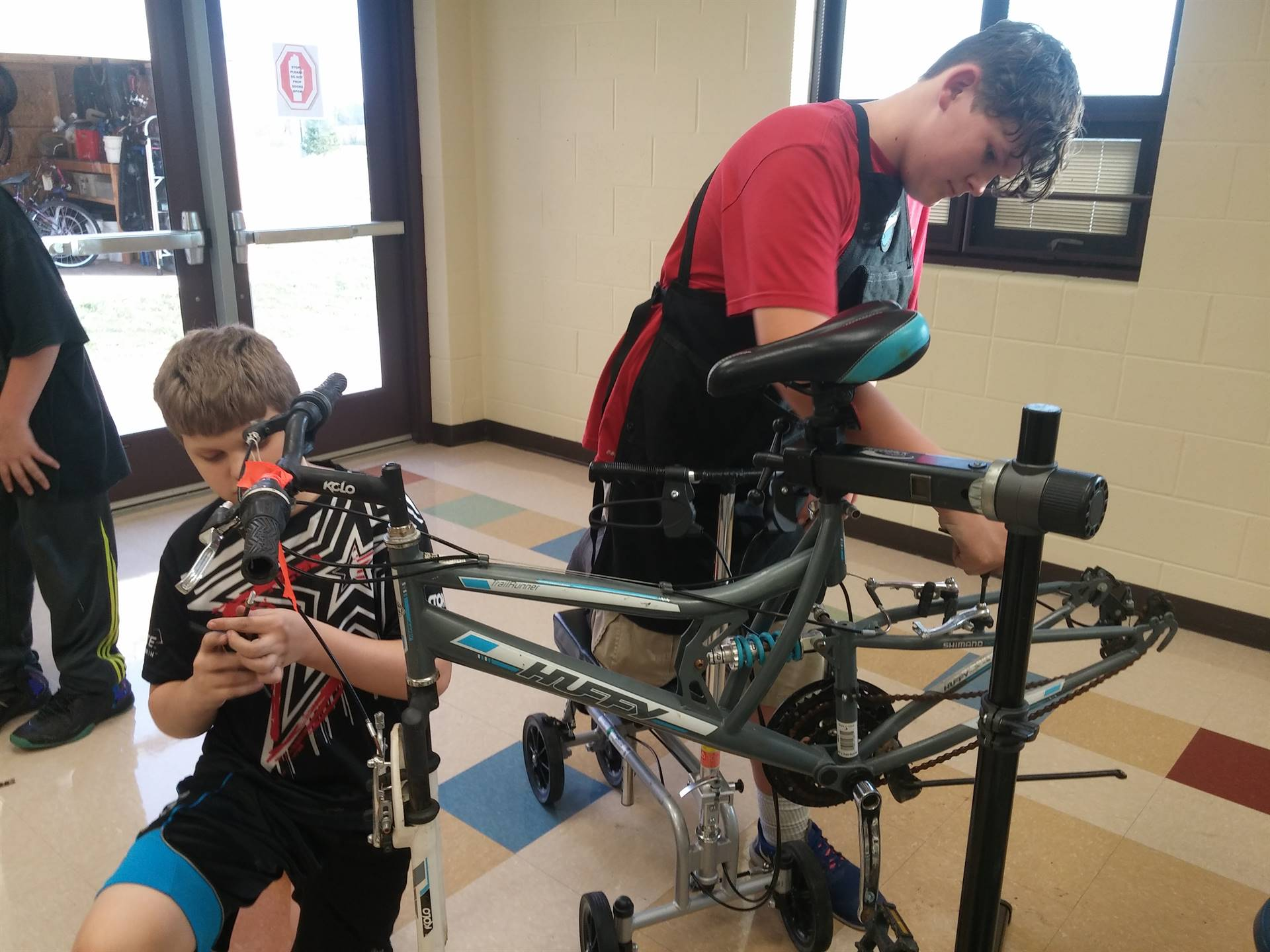 Students LOVE the Moving Gears Bike Shop!