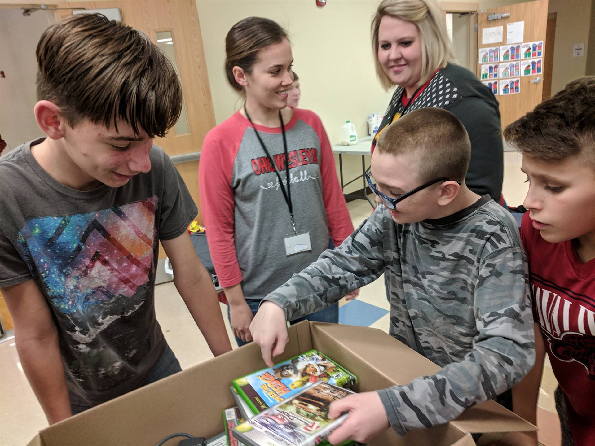 Luke generously gave away his Xbox and games!