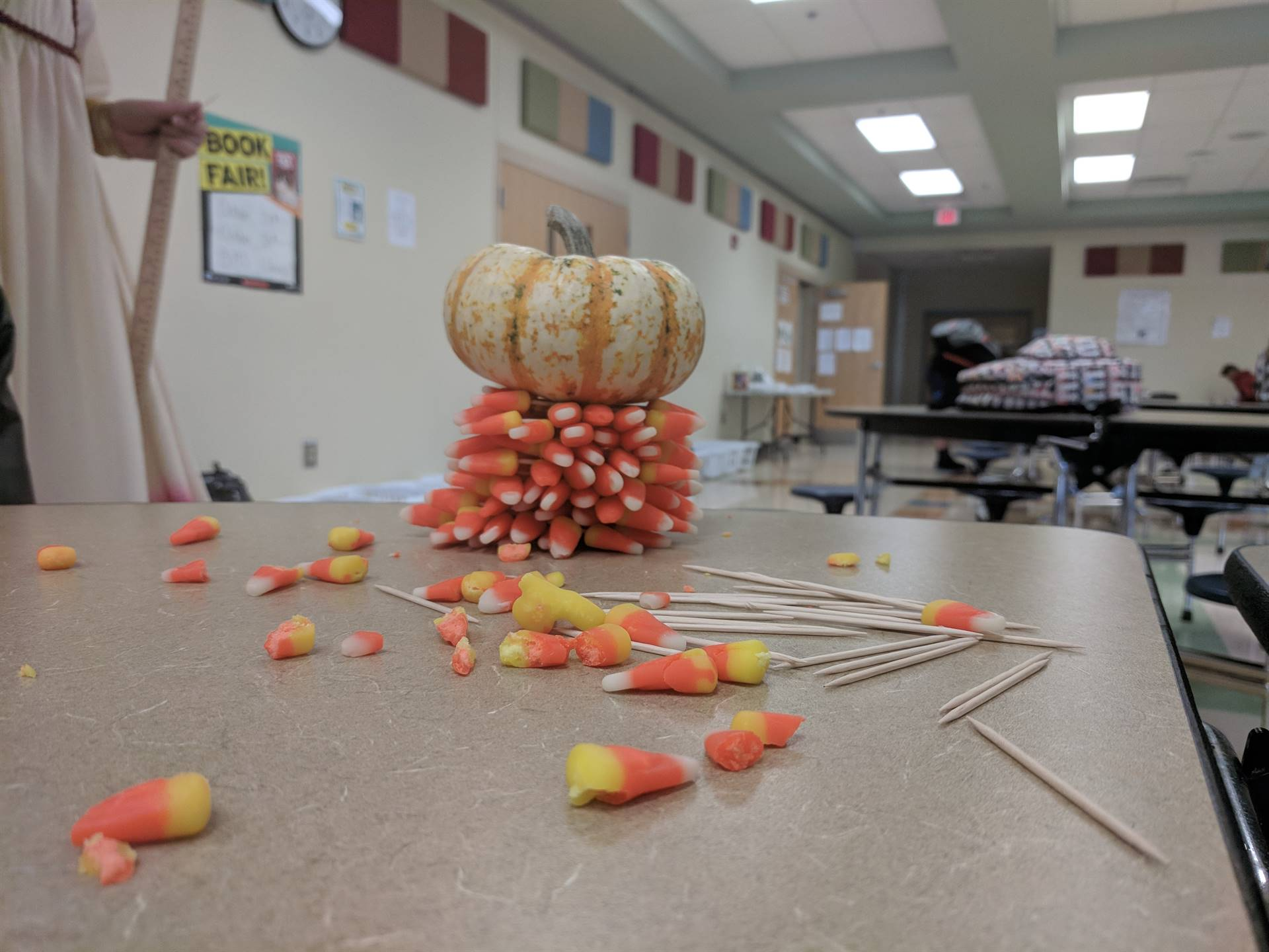 How high and strong can we make the candy corn tower?