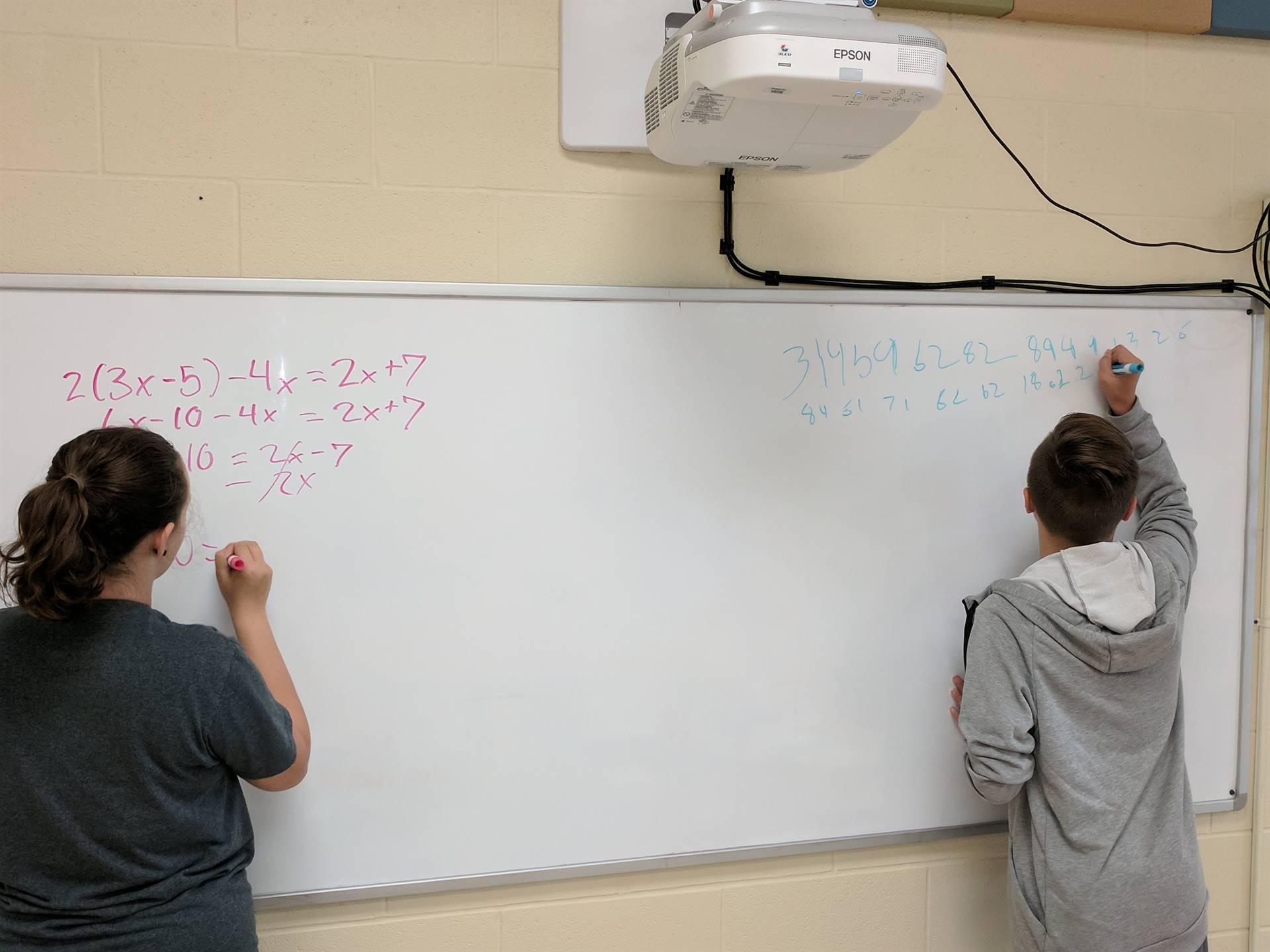 Alyssa and Hunter LOVE math!