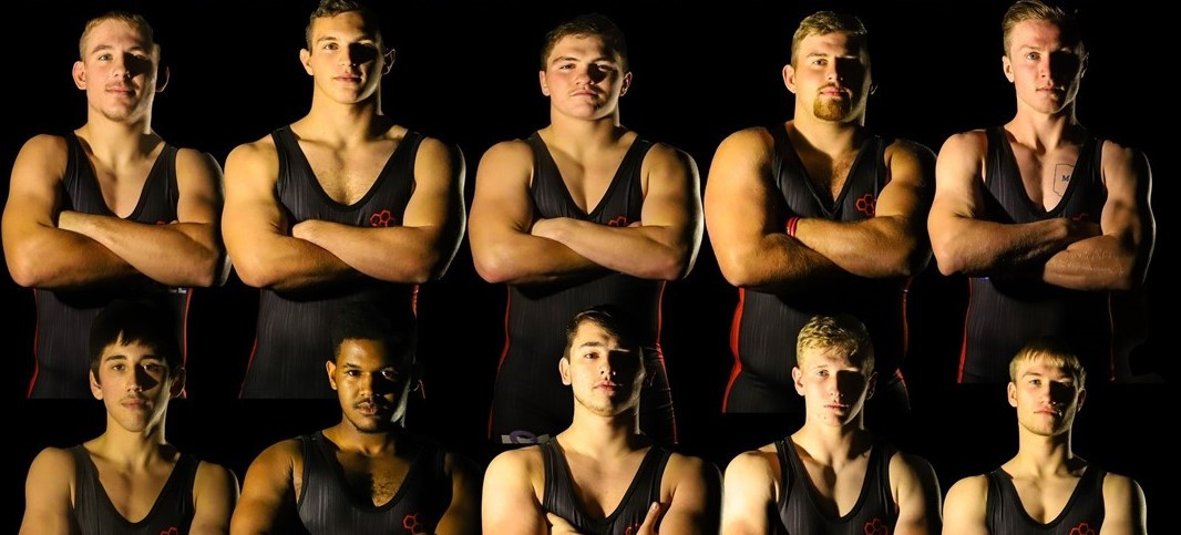Senior high school wrestlers