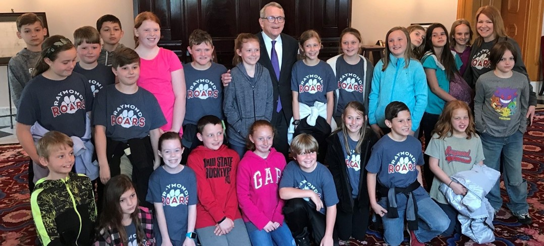 Raymond 4th graders met Gov. Dewine
