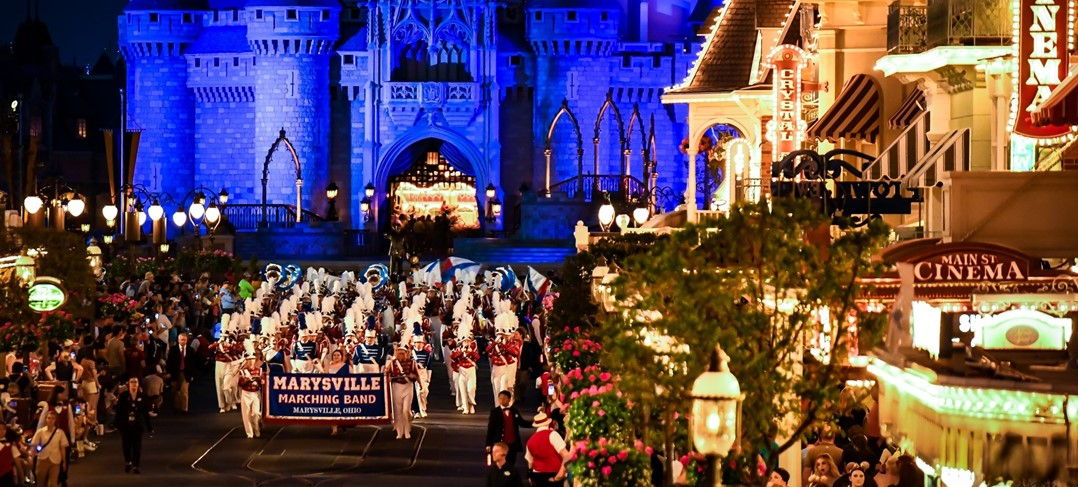 Marching Band Performs at Disney