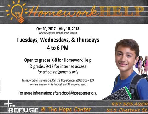 Hope Center Homework Help Post