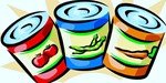 canned food items clipart
