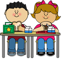 lunch kids clipart