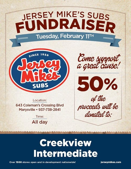 Jersey Mike's Subs Fundraiser Flyer
